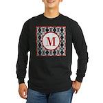 Diamond Red Monogram Long Sleeve Dark T-Shirt