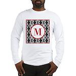 Diamond Red Monogram Long Sleeve T-Shirt