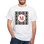 Diamond Red Monogram White T-Shirt