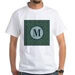 Cathedral Blue Monogram White T-Shirt