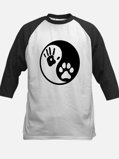 Human & Dog Yin Yang Kids Baseball Jersey