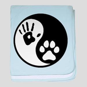 Human & Dog Yin Yang baby blanket