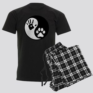 Human & Dog Yin Yang Men's Dark Pajamas