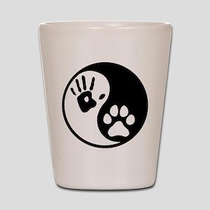 Human & Dog Yin Yang Shot Glass
