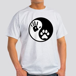 Human & Dog Yin Yang Light T-Shirt