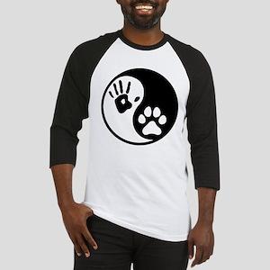 Human & Dog Yin Yang Baseball Jersey