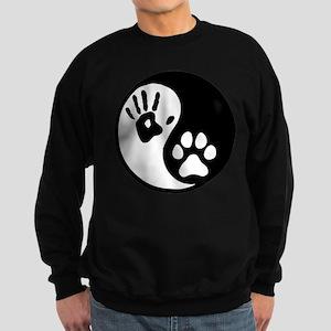 Human & Dog Yin Yang Sweatshirt (dark)