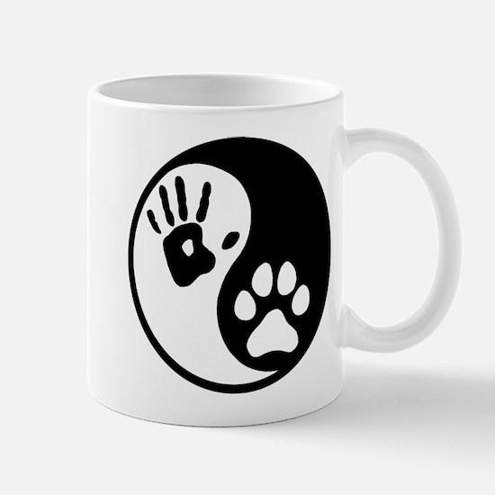 Human & Dog Yin Yang Mug