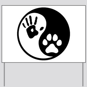 Human & Dog Yin Yang Yard Sign