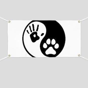 Human & Dog Yin Yang Banner