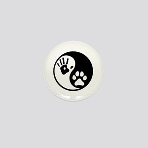 Human & Dog Yin Yang Mini Button