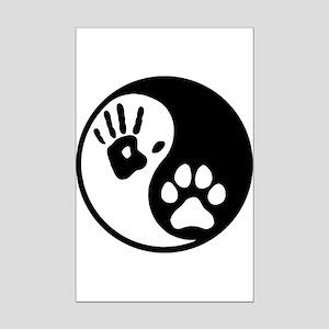 Human & Dog Yin Yang Mini Poster Print