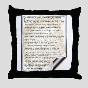 Desiderata: Throw Pillow