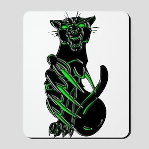 Evil Eyes Black Panther Mousepad