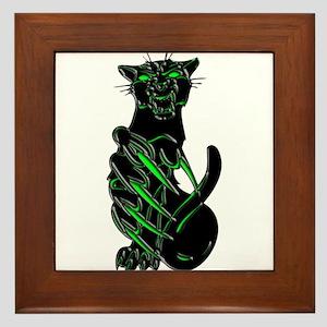 Evil Eyes Black Panther Framed Tile