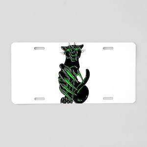 Evil Eyes Black Panther Aluminum License Plate