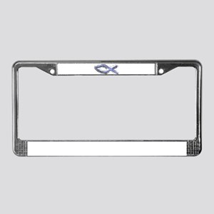 Blue Fish - Ichthys - Christ License Plate Frame