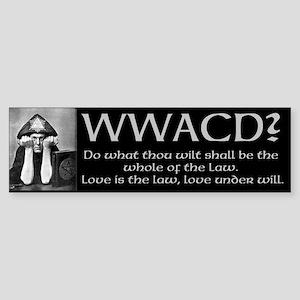 Crowley Quote Sticker (Bumper)