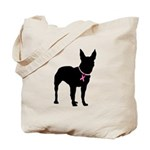 Bullterrier Breast Cancer Support Tote Bag