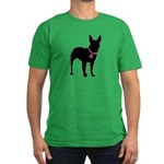 Bullterrier Breast Cancer Support Men's Fitted T-S