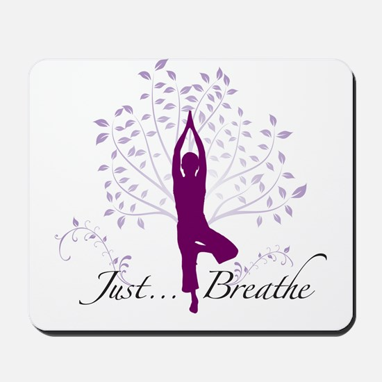 Yoga Tree Just Breathe Mousepad