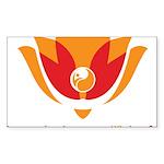 Wisdom Lotus in Orange Sticker (Rectangle 50 pk)