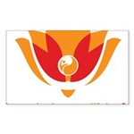 Wisdom Lotus in Orange Sticker (Rectangle 10 pk)