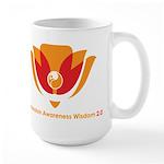 Wisdom Lotus in Orange Large Mug