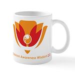 Wisdom Lotus in Orange Mug