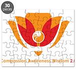 Wisdom Lotus in Orange Puzzle