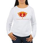 Wisdom Lotus in Orange Women's Long Sleeve T-Shirt