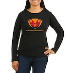 Wisdom Lotus in Orange Women's Long Sleeve Dark T-
