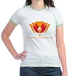 Wisdom Lotus in Orange Jr. Ringer T-Shirt
