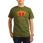 Wisdom Lotus in Orange Organic Men's T-Shirt (dark