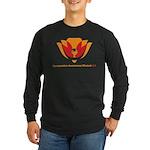 Wisdom Lotus in Orange Long Sleeve Dark T-Shirt