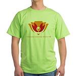 Wisdom Lotus in Orange Green T-Shirt