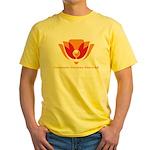 Wisdom Lotus in Orange Yellow T-Shirt