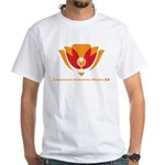 Wisdom Lotus in Orange White T-Shirt