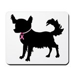 Chihuahua Breast Cancer Awareness Mousepad