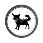Chihuahua Breast Cancer Awareness Wall Clock