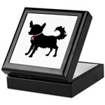 Chihuahua Breast Cancer Awareness Keepsake Box