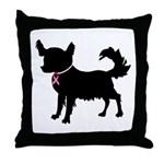 Chihuahua Breast Cancer Awareness Throw Pillow