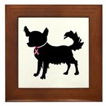 Chihuahua Breast Cancer Awareness Framed Tile