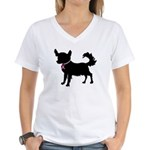 Chihuahua Breast Cancer Awareness Women's V-Neck T