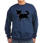 Chihuahua Breast Cancer Awareness Sweatshirt (dark