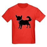 Chihuahua Breast Cancer Awareness Kids Dark T-Shir