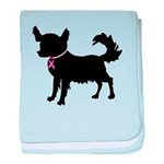Chihuahua Breast Cancer Awareness baby blanket