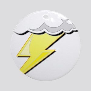 Lightning Bolt and Cloud Ornament (Round)