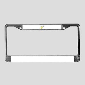 Lightning Bolt and Cloud License Plate Frame