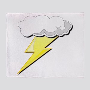 Lightning Bolt and Cloud Throw Blanket